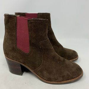 Sperry top siders suede heeled boots